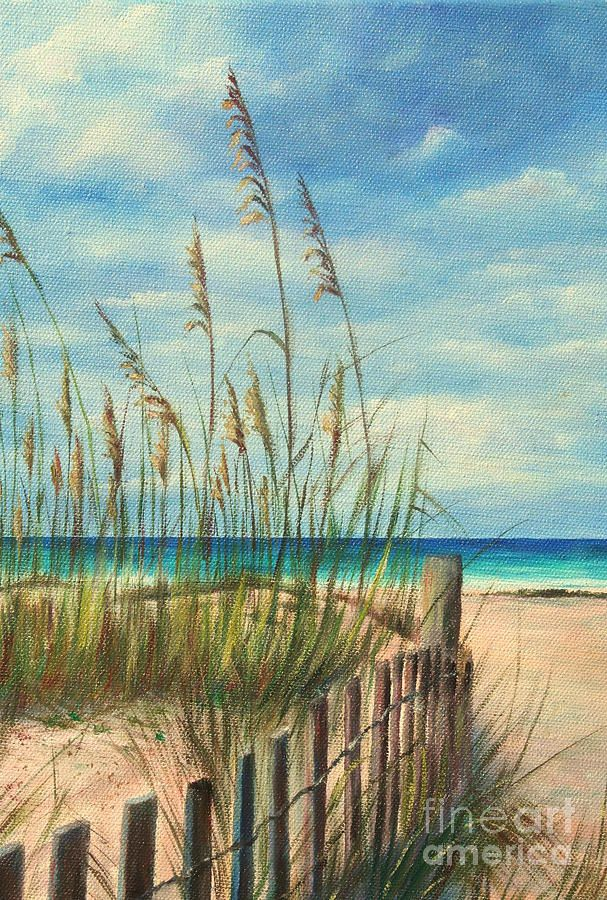 Nice Day At The Beach Painting by Gabriela Valencia