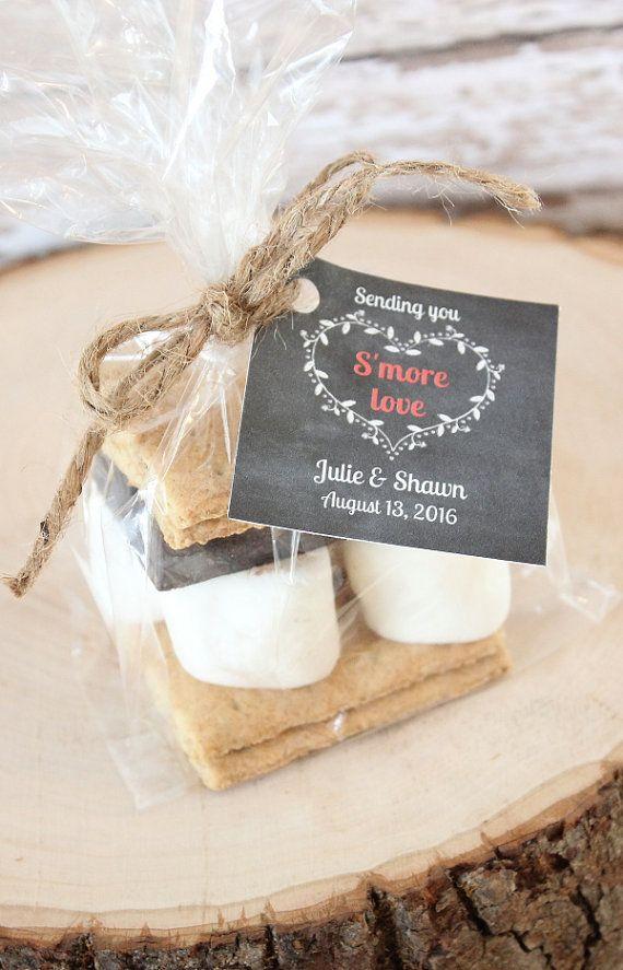 Smore Favors Packaging Set Of 24 Wedding Rustic