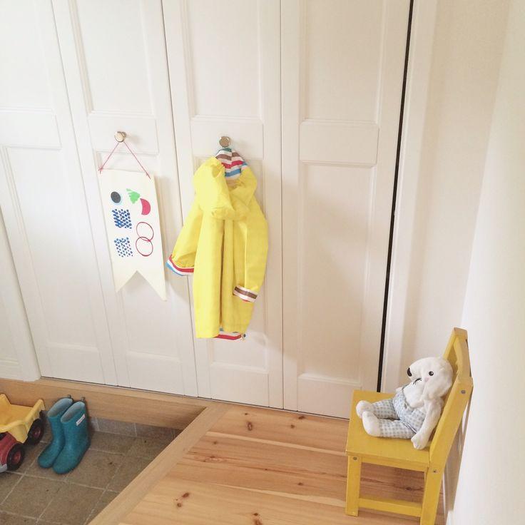 スウェーデン/stample/レインコート/こども/子供椅子/玄関/入り口…などのインテリア実例 - 2015-07-18 15:38:03 | RoomClip(ルームクリップ)