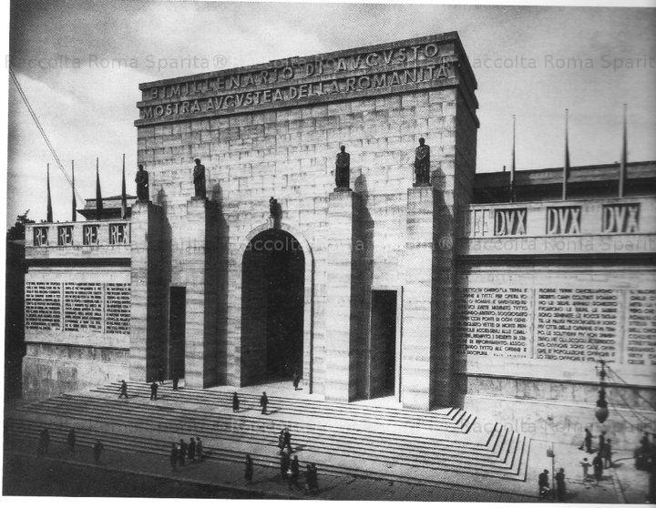 Roma Sparita Via Nazionale La Facciata Del Palazzo Delle Esposizioni Durante La Mostra Augustea Della Romanita Anno 1937 Fonte Architettura Facciata Roma