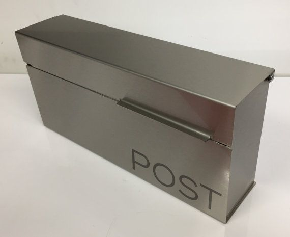 Modern and contemporary mailbox - stainless steel design, Modern Mailbox medium, Wall Mounted mailbox - contemporary