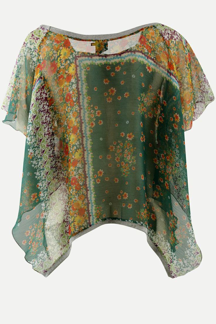 Shirt Yellow+ chiffon wijde mouw::shirts::Grote maten - mode online | Gratis verzending | Bagoes grote maten mode