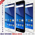 """﹩104.90. BLU Studio Mega 6.0"""" HD XL (8GB) Android 7.0 Nougat Factory Unlocked Phone S610P   Operating System - Android 7.0 Nougat, Network - Unlocked, Contract - Without Contract, Style - Smartphone, Features - 5MP Selfie Camera, Storage Capacity - 8GB, Camera Resolution - 8.0MP, Lock Status - Factory Unlocked, Cellular Band - HSDPA 850 / 900 / 1700(AWS) / 1900 / 2100, Screen Size - 6"""", Memory Card Type - MicroSD, Processor - Quad Core, RAM - 1GB, COMPTATIBLE MOBILE CARRIERS - ATT,"""