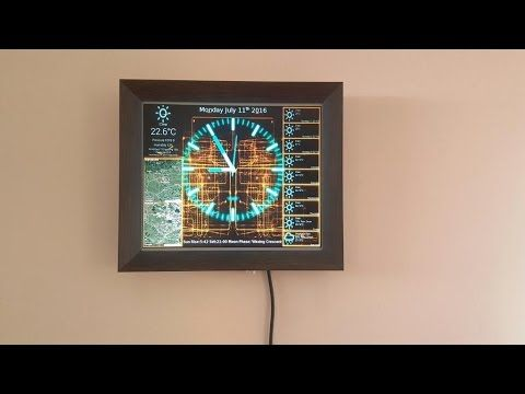 Is a fancy Clock and weather display built around a monitor and a Raspberry Pi. Install guide and hardware guide along with the source you find at: https://h...