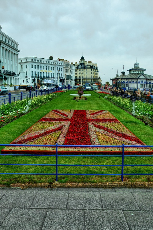 gardens on eastbourne seafront for jubileetaken in east sussex england and processed in hdr
