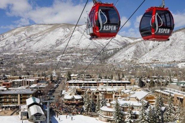 The Little Nell ski resort in Aspen, Colorado.