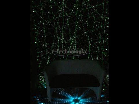 Świecąca pajęczyna z światłowodów LED-Oświetlenie dekoracyjne wnętrz - YouTube