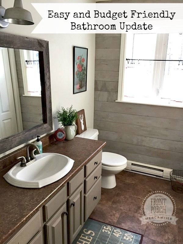 Easy Bathroom Update With Mmsmilkpaint Front Porch Mercantile Iheartmilkpaint Mmsmilkpaint