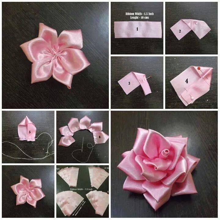 Making paper flowers from ribbon gardening flower and vegetables making paper flowers from ribbon 153 best diy ribbon flower images fabric flowers mightylinksfo