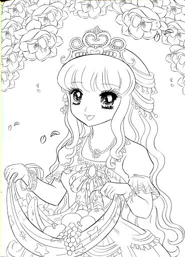 Coloring Book Princess Mama Mia Picasa Webalben Anime Princess Coloring Pages