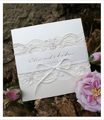 Seniorita - Lace Wedding Invitations - Huetopia Design