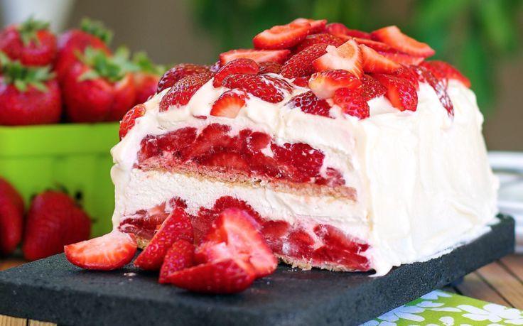 Φραουλογλυκό παγωμένο   Συνταγές - Sintayes.gr