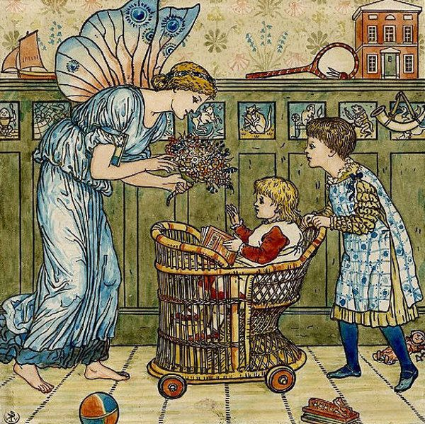 Baby's Bouquet by Walter Crane (1845-1915, English)