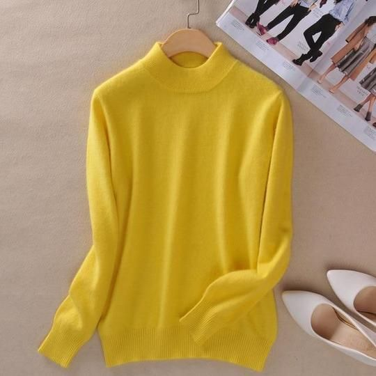 3XL Plus Size Brand Women Cashmere Sweaters Autumn Winter Turtleneck Pullovers Fashionuotelab