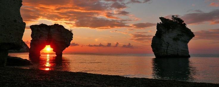 Sunrise in Mattinata bay, Apulia region, Foggia province, Gargano, Open South Project
