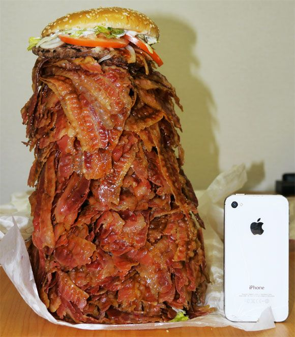 The Thousand-Piece Bacon CheeseBurger [Pic + Video]