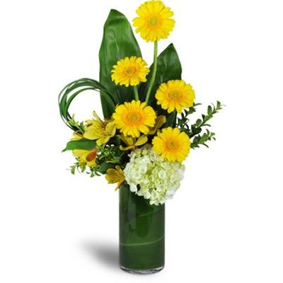 Букет цветов в вазе с бесплатной доставкой в Москве http://www.dostavka-tsvetov.com/tsvety/sanni-dehj