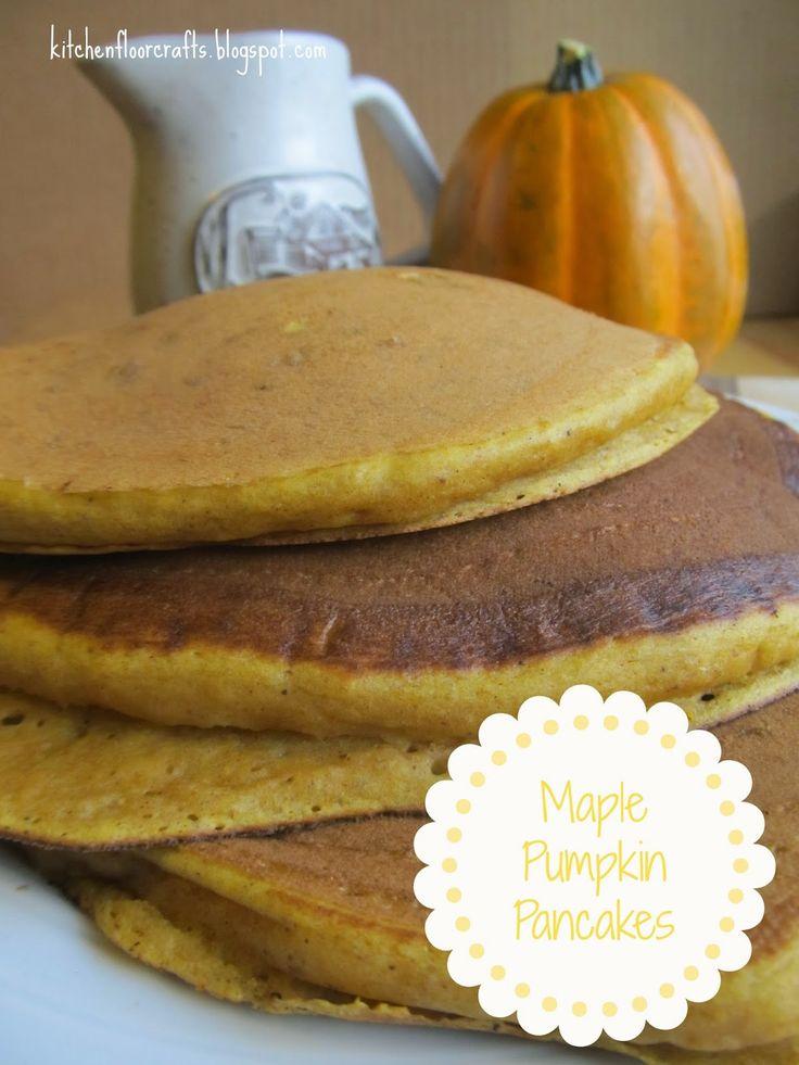 Kitchen Floor Crafts: Maple Pumpkin Pancakes