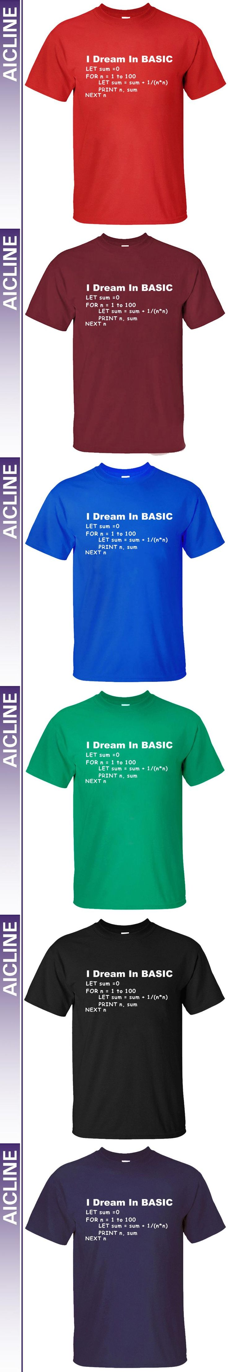 New Style Basic Programming Language Computer T-shirt Retro Video Game Funny Long sleeve T Shirt Men Casual Top Tees