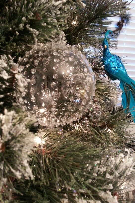 Blue Peacock Christmas Tree Decor