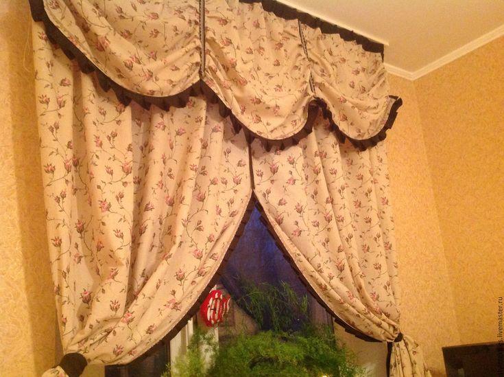 """Купить Комплект штор """" Нежность"""" - комбинированный, шторы в детскую, шторы в спальню, шторы на кухню"""