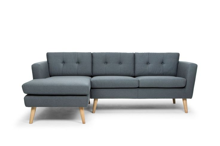 Nahla Scandinavian Style Left Hand Facing 3 Seater Sofa with Chaise - Charcoal Grey/Oak Legs - Durable, soft touch fabrics Upholstered with 100% polypropylene and polyester fabrics, our range of sofas have been developed to stand up well to regular daily use and sun exposure. The fabrics, purchased from Danish and Norwegian suppliers, are sourced t