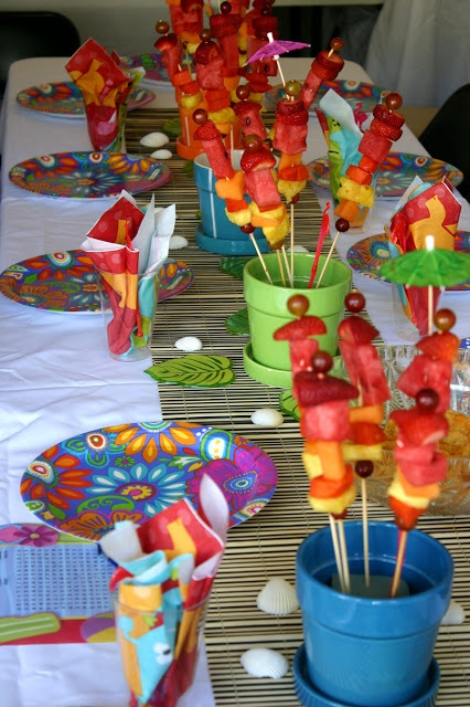 luau table decorations centerpieces saturday december 31 2011
