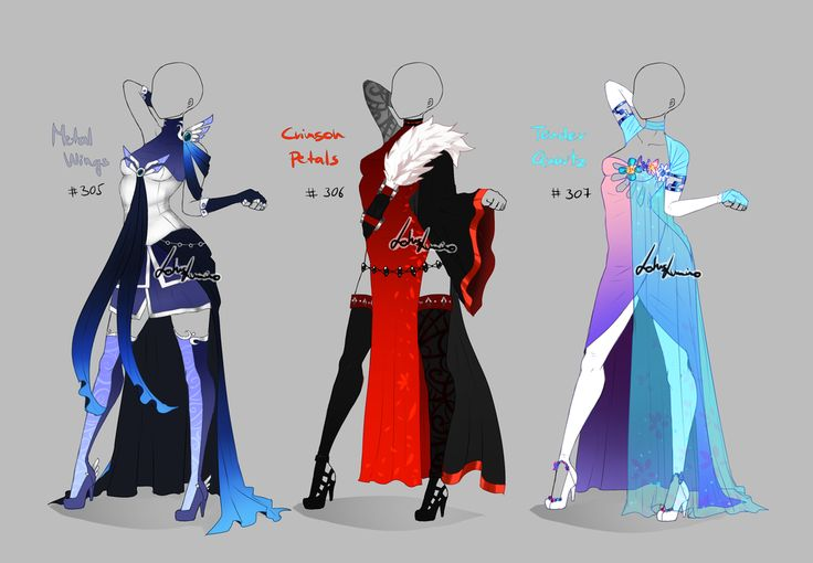 Outfit design - 305 - 307 - on hold by LotusLumino on DeviantArt