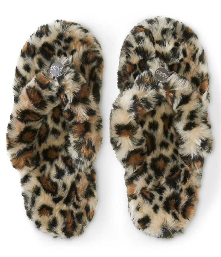 Leopard Print Dorm Slipper - Aeropostale. I have leopard print booties that heat up and cool and I love them