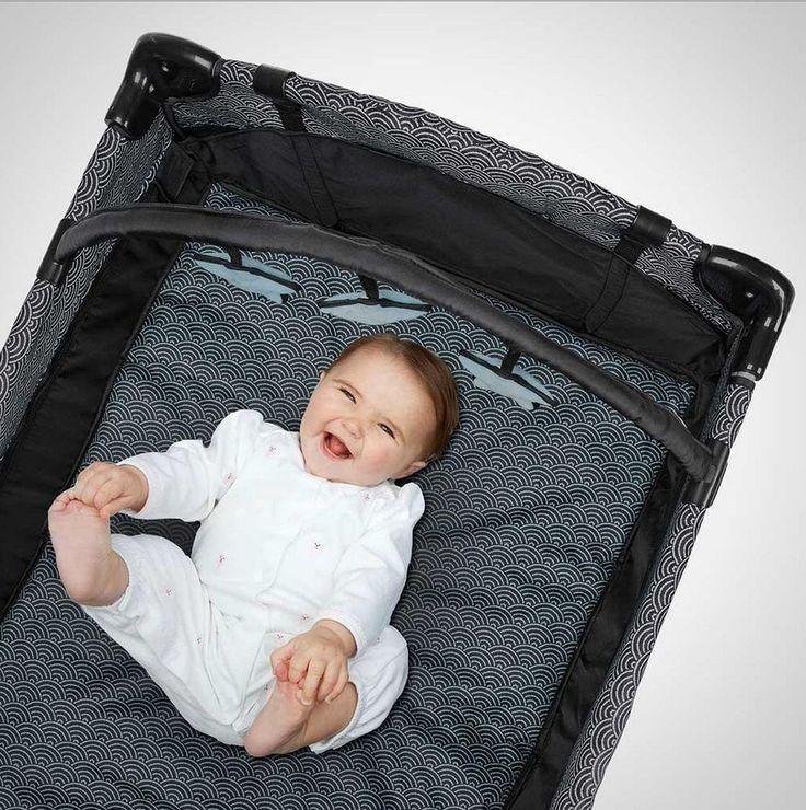 Portable Baby Deluxe Play Pen Pack Cradle Crib Sleep Travel Mobile Bassinet Fold #Evenflo