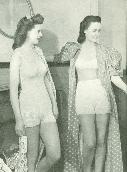 vintage knitting underwear pattern from 1948 for camiknickers