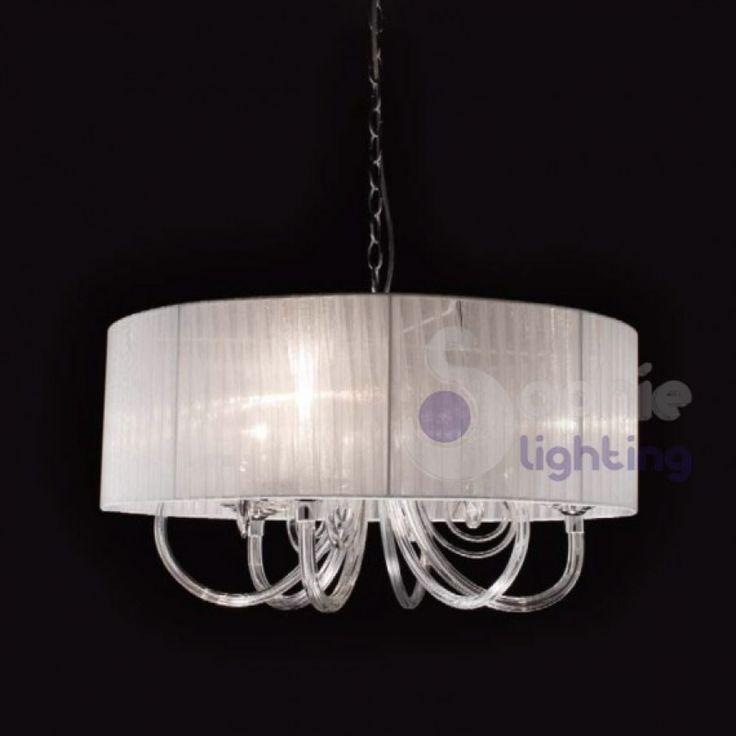 lampadari lampadari moderni sospensione paralume bianco design moderno ...