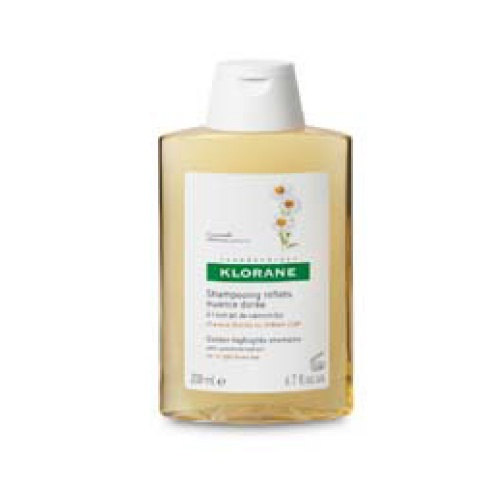 Klorane Shampoo Manzanilla  - 200Ml (Shp Camomille) Da resplandor, brillo y reflejos rubios a los cabellos claros. Shampoo reflejos dorados con extracto de camomila, acentúa el dorado de los cabellos rubios o castaño claros. Proporciona reflejos luminosos.