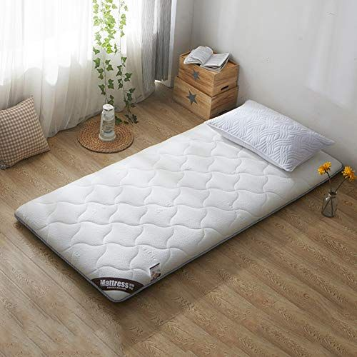 Memory Foam Mattress Topper Reversible Mattress Pad Foldable Thick Futon Japanese Tatami Floor Mat Sleeping A Mattress On Floor Mattress Dorm Mattress Topper