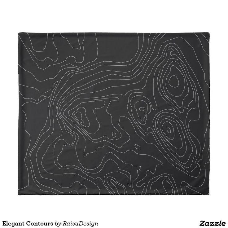 Elegant Contours Duvet Cover