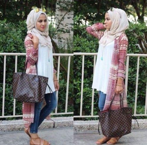 chiffon long cardigan hijab style,Hijab looks by Sincerely Maryam http://www.justtrendygirls.com/hijab-looks-by-sincerely-maryam/