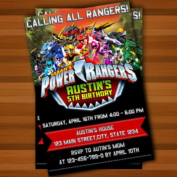 118 best images about Power Ranger Party – Power Ranger Party Invitations