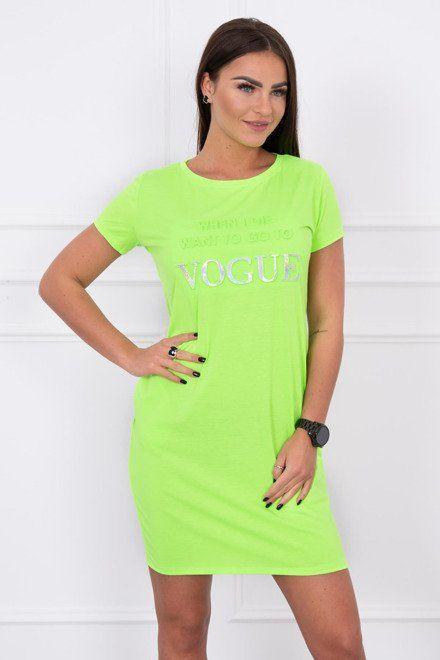 2ff81716ae83 Dámske športové šaty neonové zelené Vogue