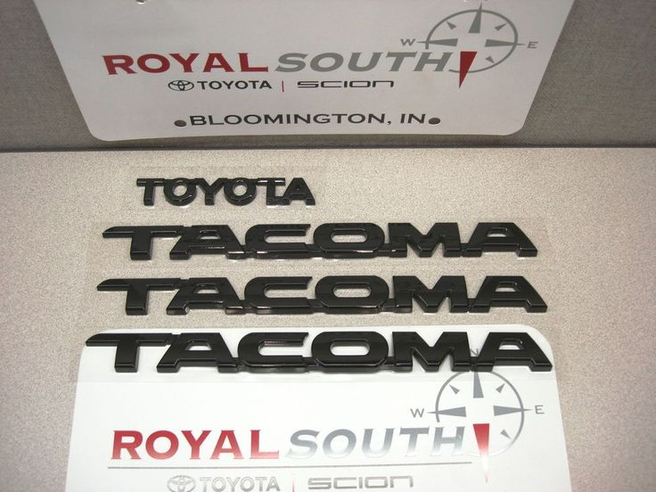 Toyota 2012 2013 2014 Tacoma Black Emblems Genuine OEM OE US $99.00 New in eBay Motors, Parts & Accessories, Car & Truck Parts