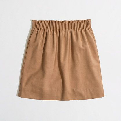 Factory pleated mini in camel. Really need this for my wardrobe- would wear it multiple times each week.