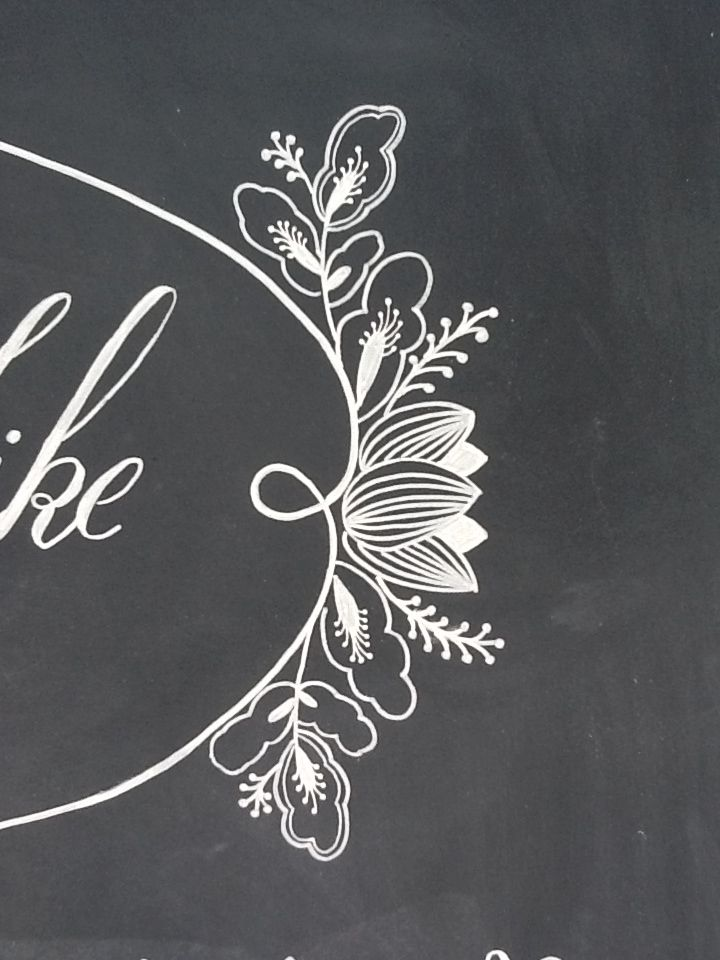 Wedding chalkboard welcome sign- Hand drawn details Handmade by: CoachHouseCraft on Etsy