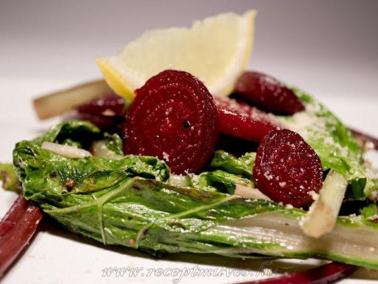Mángold és céklalevél saláta