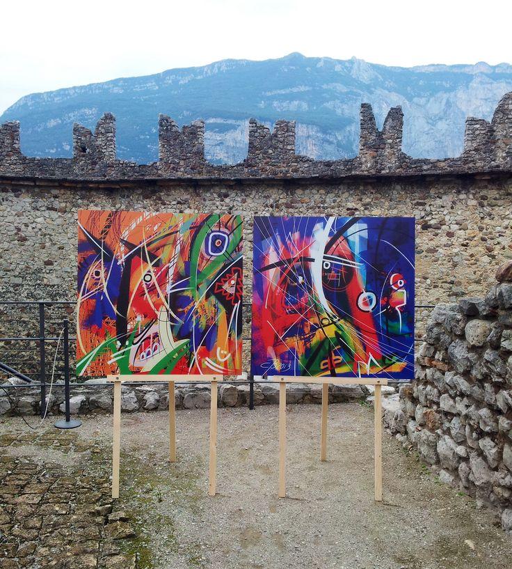 digital painting by #BUCA su alucobond 100 x 100