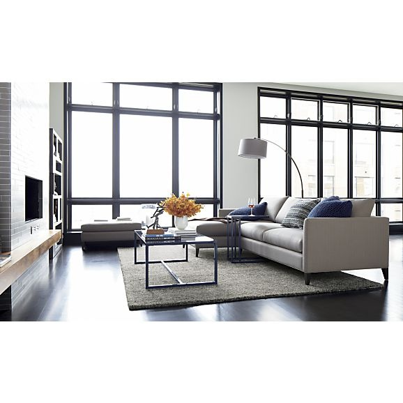 Dexter Arc Floor Lamp With Grey Shade Sectional Sofas