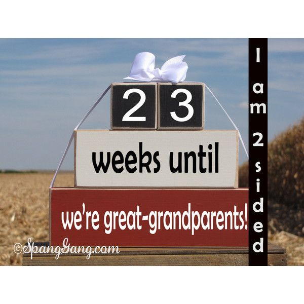 Pregnancy Announcement Countdown Wood Stacking Blocks Weeks Until... ($32) ❤ liked on Polyvore featuring home, home decor, grey, home & living, home décor, picture frames & displays, wood home decor, gray home decor, grey home decor and wood block set