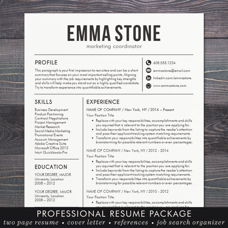 "⚡ BOGO FLASH SALE! LIMITED TIME. ⚡ Take an extra 67% off when you buy 1 and get 2 FREE with coupon code BOGO2FREE. Coupon expires at 11:59pm PST. Need a resume design makeover? The instant download ""EMMA resume template has a modern and clean design with a simple, easy-to-read"