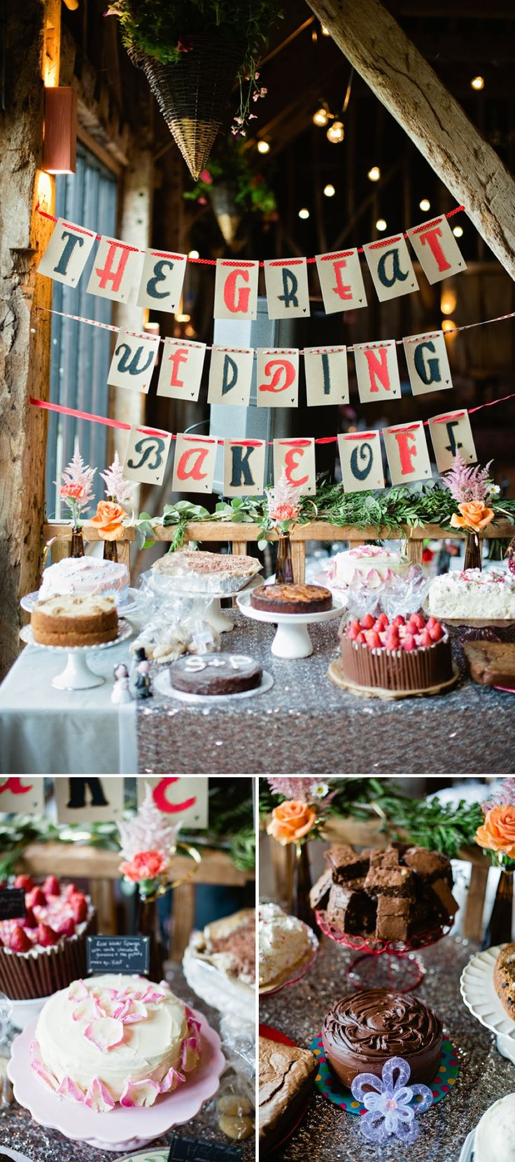 DIY Wedding Dessert Table Cake Competition Bakeoff. I think this is a cute idea! then you don't have to pay for dessert for everyone!