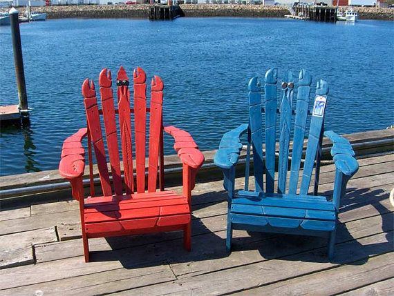 Adirondack Chairs Hand Carved Lobster By