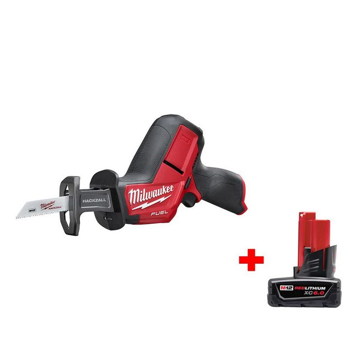 Milwaukee M12 Fuel 12-Volt Lithium-Ion Cordless Hackzall Reciprocating Saw (Tool Only) with 6.0Ah Battery
