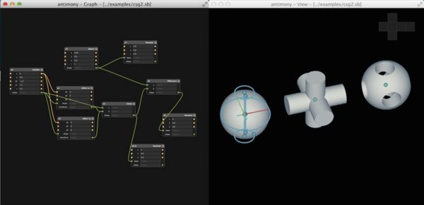 Introducing Antimony, free graph-based 3D CAD system | Libre Graphics World